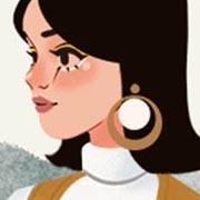 Viste a una chica a la moda funky de los 60s