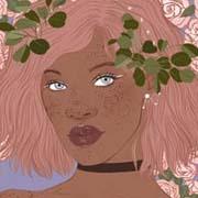 Viste a una linda chica amante de las plantas, muy plant lover, con lindos fondos modernos y adornos florales.