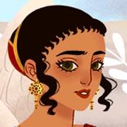 Crea una hermosa chica con moda de la Antigua Grecia