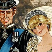 Viste a la Princesa Diana y al Príncipe Charles en su día de boda y otros eventos