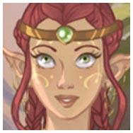 Viste a una elfa mágica