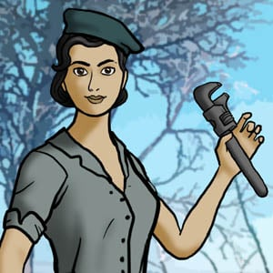 Juego de vestir puedes crear a tu heroína de la segunda guerra mundial