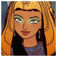 Viste hermosas doncellas del Antiguo Egipto